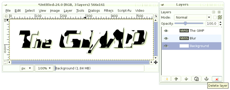 Processing images with the GIMP
